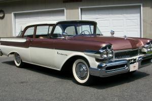 1957 MERCURY MONTEREY CALIFORNIA RUST FREE 2-DOOR SEDAN RARE 3SPEED MANUAL 41K Photo