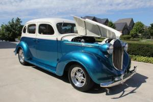 38 Plymouth Steel Street Rod 4 Dr Sedan Loaded Leather Sucide doors Show Car