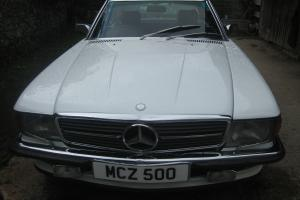MERCEDES 500SL 500 SL 1986 WHITE SPORTS LEATHER R107 CONVERTIBLE MERC R 107