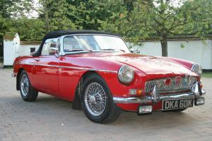 Red MG 1972 Roadster