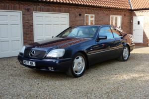 1995 MERCEDES S500 COUPE AUTO BLUE Beige Leather Full specialist service history