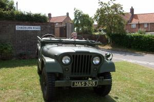 1953 AMERICAN/CANADIAN WILLY JEEP GREEN TAX EXEMPT HISTORICAL M38 A1