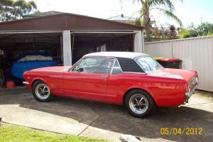 1966 Ford Mustang GT Coupe 289 CI 4 7 LTR Candy Apple RED Black Pony Interior