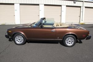 1981 FIAT Spider 2000 Turbo Convertible - EXCELLENT Condition