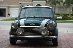 Classic mini cooper Green sedan right hand drive