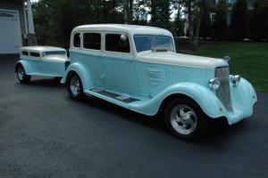1934 Plymouth Sedan w/Street Rod Trailer Rare Custom Show Cruiser Pro Built Fun