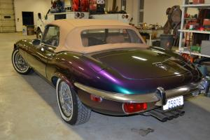 Beautiful 1973 Jaguar E-Type Convertible v-12 4 speed custom paint wire wheels
