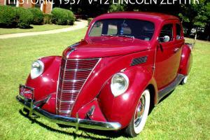 HISTORIC 1937 LINCOLN ZEPHYR V-12 TRENDSETTER FROM ART DECO ERA NO RESERVE!