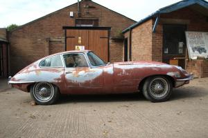jaguar etype e type fhc fixed head coupe lhd 4.2 series 2 barn find classic jag  Photo