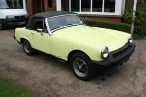 1977 MG MIDGET 1500 JUST 13,500 MILES GUARANTEED FROM NEW WITH GOOD HISTORY FILE