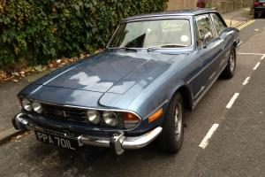 TRIUMPH STAG 3L AUTO, BLUE WITH TAN INTERIOR TAX AND MOT HARDTOP AND SOFT TOP