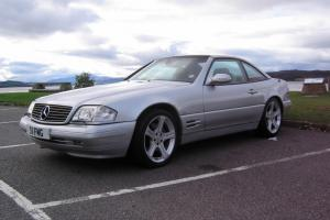 1998 MERCEDES SL320 AUTO SILVER with panorama roof. MOT