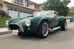 1967 right hand side Shelby Cobra replica in racing green. Photo