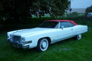 Cadillac Eldorado 1973 White convertible BUY IT NOW PRICE/RESERVE REDUCED