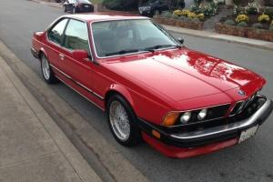 1987 BMW M6 E24 All original California Car RED / TAN 76K miles