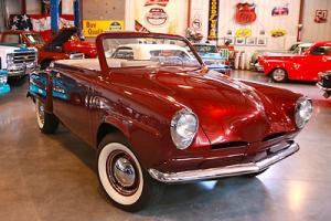 1952 Studebaker 4 Seater Roadster,NO RESERVE! 3 Speed, Leather Custom Interior