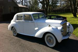 1954 Bentley R-Type Wedding Car White on White