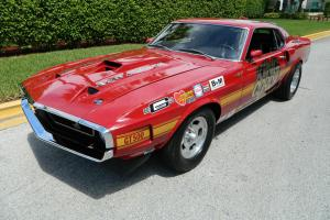 "1969 SHELBY GT500 COBRAJET RACED AS ""KING COBRA"" AND ""POONTANG"" DURING 1969-1977"