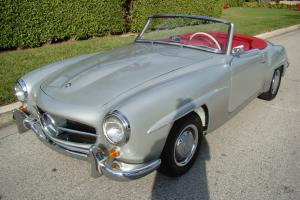 1961 Mercedes Benz 190SL Silver Red DB180 New Interior Excellent Paint and Chrom
