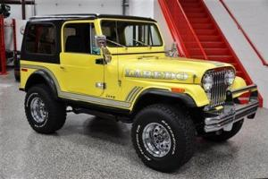 "1977 JEEP CJ7 LAREDO 304 V8 ALL STEEL BODY 3"" LIFT 33 INCH TIRES RESTORED LOADED"