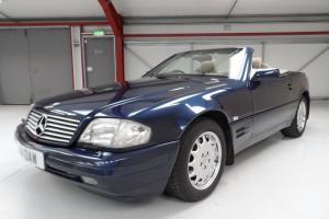 1996 MERCEDES SL 320 Azzurite Blue/Grey leather FULL SERVICE HISTORY stunning