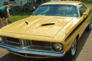 1974 Plymouth BARRACUDA 383 3x2bbls 4-speed 42,770mi Yellow wBlack Stripes FAST!
