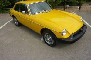 MGB GT 1978 INCA YELLOW CHROME WIRE WHEELS WITH BLACK HIDE INTERIOR - STUNNING