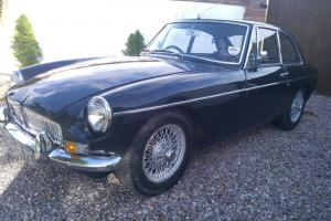 1967 MGB GT BLACK CHROME BUMPER
