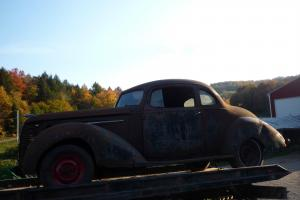 1938 Hudson Terraplane 2 Passenger Business Coupe Project Hot Rod Rat Rod