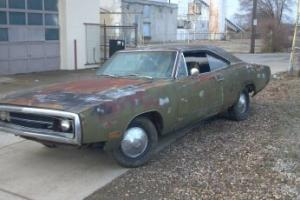 1970 Charger RT real 440 four 4-speed 70 Dana rear yard driving running CONSOLE