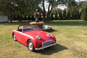 """1961 Austin Healey Sprite """"Bugeye"""" with 948 Engine Photo"""