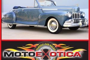 1946 LINCOLN CONVERTIBLE, RESTORATION, 305 V12, 3-SPEED MANUAL, CALIFORNIA CAR