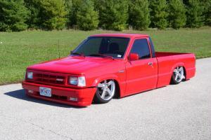 1988 Mazda B2200 Standard Cab Minitruck Lowrider Bagged Bodydropped IRS Fuel Inj