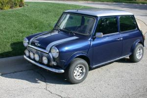 1970  Clasic Mini Cooper, Fresh engine and transaxle, Silver over Metalic Blue