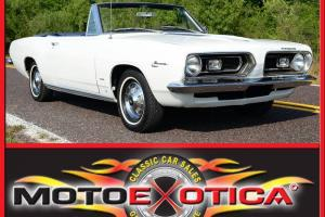1967 PLYMOUTH BARRACUDA, ORIGINAL BUILD SHEET, 273 COMMANDO V8, AUTOMATIC, CLEAN