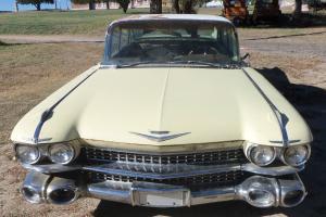 1959 Cadillac DeVille 4 Door Hardtop 59 Caddy Rat Rod - Factory Air 59L023414
