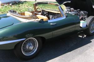 1966 Jaguar XKE convertible w/ covered headlights