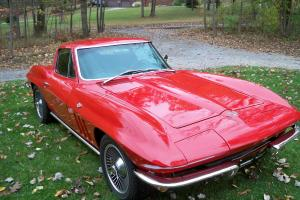 1965 CORVETTE COUPE, RED, BLACK INTERIOR, GREAT CAR, DRIVE ANYWHERE, LOW RESERVE