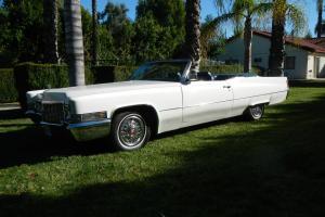1970 Cadillac Deville Convertible Restored Wonderfull California car