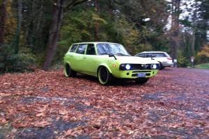 Neon Green Wide Body  Turboed 1978 Subaru Wagon 19 inch BMW rims