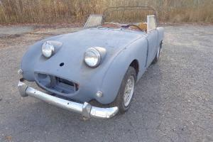 1963 AUSTIN HEALEY SPRITE SPRIDGET BUGEYE NOSE NDS RESTORATION ENGINE TURNS