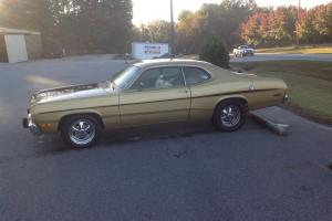1973 PLYMOUTH DUSTER SURVIVOR , GOLD ON GOLD