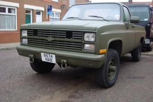 1985 CHEVROLET GMC GREEN 4x4 k20 pick up , 11121 only ex usaaf EX MOD