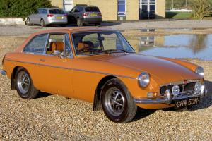 1974 MGB GT 76,000 Chrome Bumpers, Webasto Roof, Overdrive