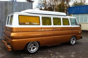 Dodge A108 1968 custom camper rare poptop model, surf bus
