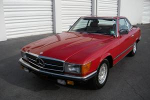 1984 Mercedes Benz Euro Model 500SL Matching Numbers R107 500 SL Red NO RESERVE