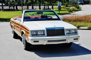 Immaculate 15,624 miles 83 Chrysler LeBaron Town@Counrty Convertible mark cross