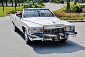 Very rare 1979 Cadillac Deville Convertible hess ernhart 67ks 1 owner beautiful