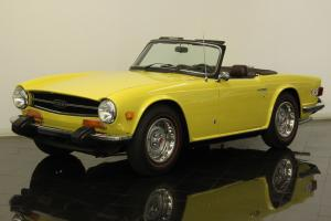 1974 Triumph TR6 2.5L 6 Cylinder 4 Speed Cosmetically Restored Low Miles