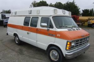 Dodge Ambulance Wheeled Stretcher Van Low Miles!